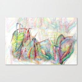 Vegetal color chaos Canvas Print