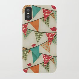 Home Birds 'N' Bunting. iPhone Case