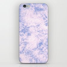 Pink and blue abstract pattern iPhone Skin