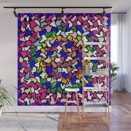 Wobbly Vibrant Tiles Wall Mural