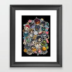 Overcute Framed Art Print