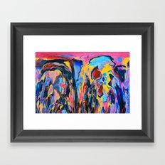 Sunset Oil Framed Art Print