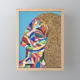 Pop Art woman face colors Fauve Lady 2 rock Framed Mini Art Print