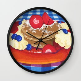Pancakes Week 10 Wall Clock