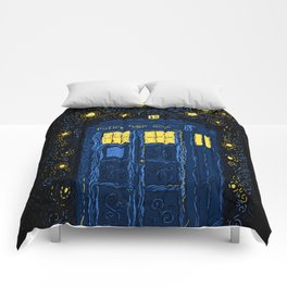 Space Time Impressionism Comforters