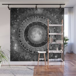 Major Tom (floating in my tin can, far above the Moon) Wall Mural