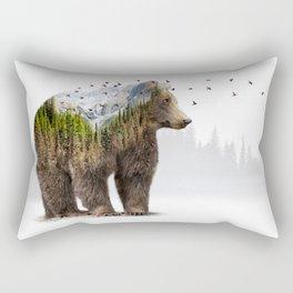 Wild I Shall Stay   Bear Rectangular Pillow