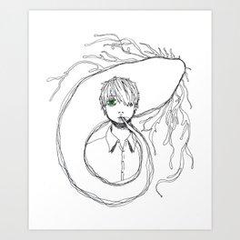 銀蠱 Art Print