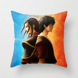 Azula and Zuko Throw Pillow