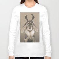 jackalope Long Sleeve T-shirts featuring Jackalope by Art of Jeff Hebert