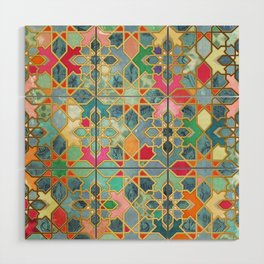 Gilt & Glory - Colorful Moroccan Mosaic Wood Wall Art