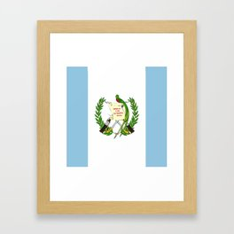 Guatemala flag emblem Framed Art Print