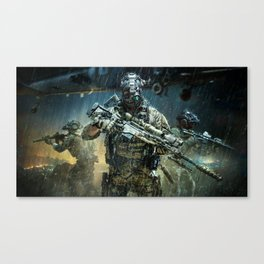 Night time Sniper Hunting Canvas Print