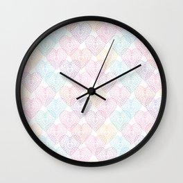 Patterns Of My Heart Wall Clock