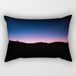 Pink blue sky Rectangular Pillow