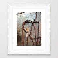 tool Framed Art Prints featuring TIRE TOOL by Dan Brennan
