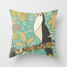 Forest Toucan  Throw Pillow