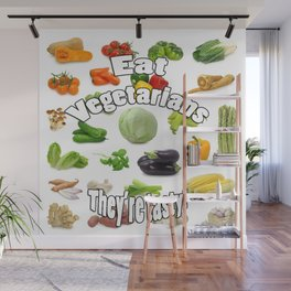 Eat A Vegetarian Wall Mural