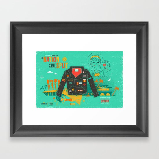 The Nation Shall Split Framed Art Print