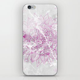 Modern abstract pink watercolor mandala marble pattern iPhone Skin