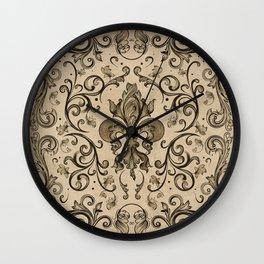 Vintage Fleur-de-lis ornament  Wall Clock