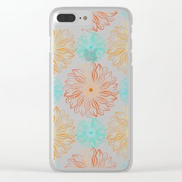 Autumn Sunflowers Clear iPhone Case