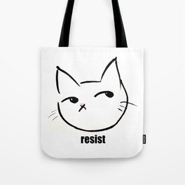 Resist kitty Tote Bag