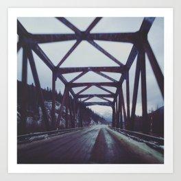 Drive Over Wooden Bridge Art Print