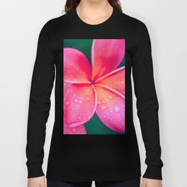 Aloha Hawaii Kalama O Nei Pink Tropical Plumeria Long Sleeve T-shirt