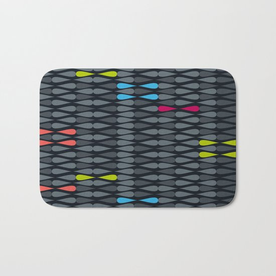dropsstripes Bath Mat