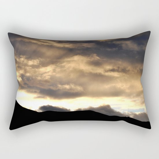 SUNSET THRU THE HEAVY RAIN CLOUDS Rectangular Pillow