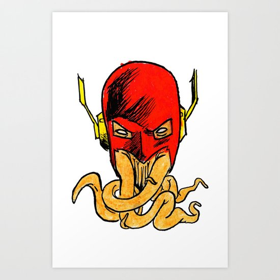 Tentacled Flash Art Print