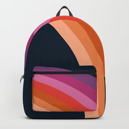 Tubular - retro throwback 70s style rainbow colorful trendy 1970's art decor Backpack