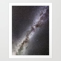 milky way Art Prints featuring Milky Way by Space99