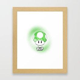 1-UP from Mario Framed Art Print