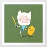 finn and jake Art Prints featuring Finn & Jake by Rod Perich