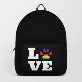 Rainbow paw Backpack