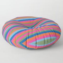 Fall Candy Stripes Floor Pillow