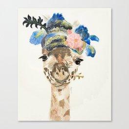 Dandy Giraffe Canvas Print