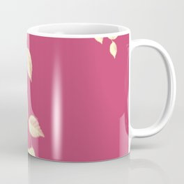 Falling Leaves in Gold Coffee Mug