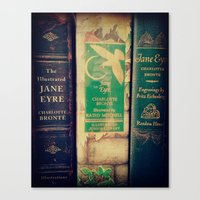 jane eyre Canvas Prints featuring Jane Eyre by Apples and Spindles