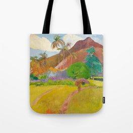 Tahitian Landscape by Paul Gauguin Tote Bag