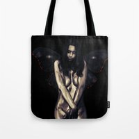 depression Tote Bags featuring Depression by LindaMarieAnson