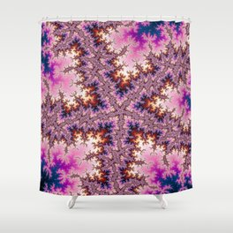 Fractal Starfish Shower Curtain