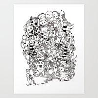 lsd Art Prints featuring LSD by octavio ramirez
