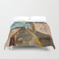 transparent Duvet Covers featuring TRANSPARENT WALLS by Matt Schiermeier