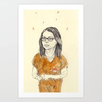 alex vause Art Prints featuring Alex Vause by withapencilinhand