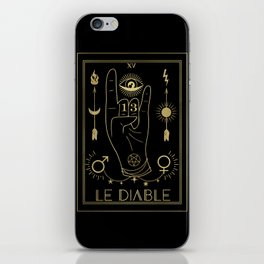 Le Diable or The Devil Tarot Gold iPhone Skin