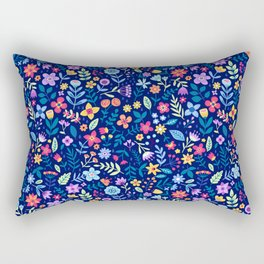 "Cute Floral pattern in the small flower. ""Ditsy print"". Vintage. Rectangular Pillow"