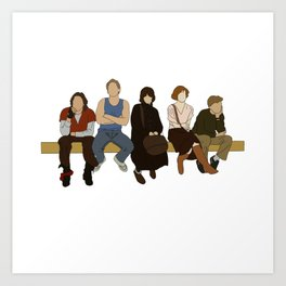 Don't you forget about me breakfast club mini sticker; water proof, car safe, laptop sticker Art Print